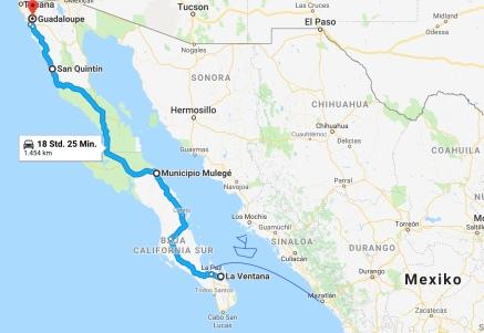 Karte Baja