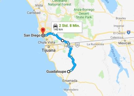 Karte San Diego