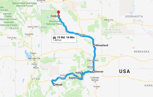 Karte Colorado