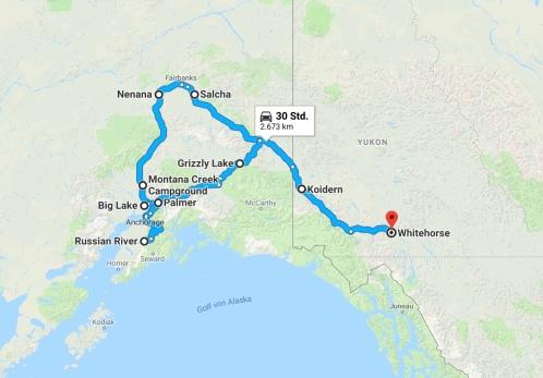 Karte Alaska